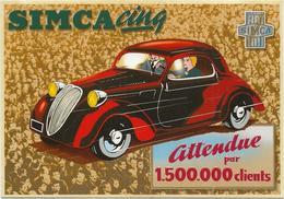 VOITURE  ANCIENNE  SIMCA CINQ - Cartes Postales