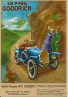 VOITURE  ANCIENNE    Le Pneu GOODRICH  COLOMBES  SEINE - Cartes Postales