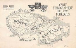 Czech Rep. - Map Of The Czech Lands - Publ. By L'Independance Tchèque, Monthly Published In Paris, France - Repubblica Ceca