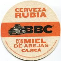 Lote 456, Colombia, Posavaso, Coaster, BBC, Cerveza Rubia Con Miel De Abejas, Cajica - Portavasos