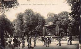 Poland - WARSAW - Fontanna W Ogrodzie Saskim - REAL PHOTO Publ. Unknwon. - Polonia