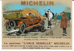 VOITURE  ANCIENNE    Le Nouveau Cable Semelle  MICHELIN - Cartes Postales