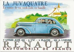 VOITURE  ANCIENNE  RENAULT  LA JUVAQUATRE - Cartes Postales