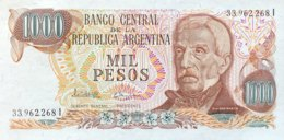 Argentina 1.000 Pesos, P-304d (1977) - UNC - Sign.variety 3 - Argentinien