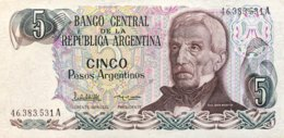 Argentina 5 Pesos Argentino, P-312a (1983) - UNC - Sign.variety 1 - Argentinien