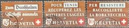 1942 Altstoffverwertung Ganzer Satz MiNr: 405-407 - Usados
