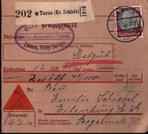 ! 1934 Nachnahme Paketkarte Deutsches Reich, Tanna Kreis Schleiz Nach Eilenburg - Storia Postale