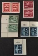 1943 Paare**) 25 Jahre Deutscher Luftpostdienst Mi.866 Ecke LU,867,868O,868 Ecke RO, Machtsergreifung Mi.829 - Allemagne