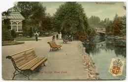 WOLVERHAMPTON : WEST PARK - THE BRIDGE / POSTMARK - WOLVERHAMPTON / ADDRESS - HADDENHAM - Wolverhampton