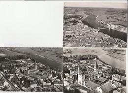 3 CPSM:TOURNUS (71) ABBAYE ÉGLISE SAINT PHILIBERT,NOUVEAU PONT SUSPENDU,VUE - France