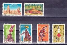Haute Volta - Burkina Faso Y&T 154/159 Eglises, Arts Negres N** MNH - Obervolta (1958-1984)