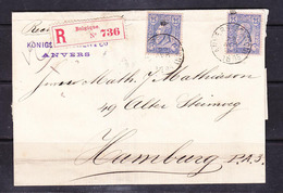 SC 19-78 R-LETTER FROM ANVERS TO HAMBURG. 1885 YEAR. - 1884-1891 Leopold II