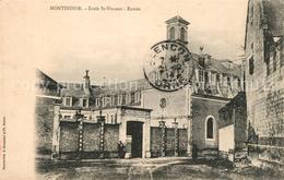 13611427 Montdidier_Somme Entrée De L'Ecole Saint Vincent Montdidier Somme - France