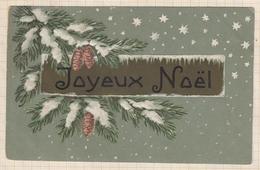 9AL2869 CARTE POSTALE JOYEUX NOEL Branche De Sapin 2 SCANS - Christmas