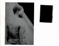 Rare Negatif Tribu Du Bas Congo Vers 1920 Tatouage Et Son Impression Recente - Afrique