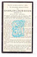 DP Charles Louis Sioen ° Moorslede 1864 † 1931 X Sylvie Deré - Devotieprenten
