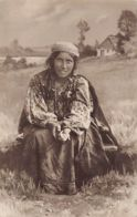 Romania - Gipsy Woman Begging - REAL PHOTO Publ. Maier And Stern. - Rumania
