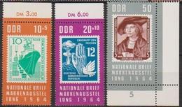 DDR 1964 MiNr.1056 - 1058 ** Postfr. Nationale Briefmarkenausstellung, Berlin (A1491 ) Günstige Versandkosten - Ungebraucht