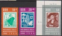 DDR 1964 MiNr.1056 - 1058 ** Postfr. Nationale Briefmarkenausstellung, Berlin (A1434 ) Günstige Versandkosten - Ungebraucht