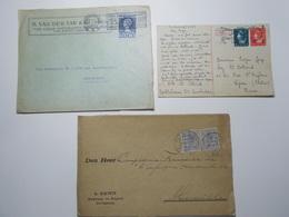 Marcophilie Lot 3 Enveloppes Lettres Oblitérations Timbres PAYS BAS  (2591) - Periode 1891-1948 (Wilhelmina)