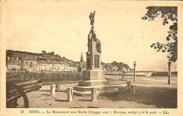CPA - COTES D'ARMOR - BINIC, Le Monument Aux Morts Et Le Port - Binic