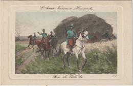 Militaire Militaria :     L '  Armée  Françiase  Hussards , Pose  De   Vedette ,  Cheval ( Illustrateur Lili? ) - Personen