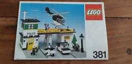 Istruzioni Lego 381 Stazione Polizia 1979 Originale Epoca - Plans
