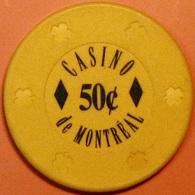 50¢ Casino Chip. Casino De Montreal, Montreal, CAN. S47. - Casino