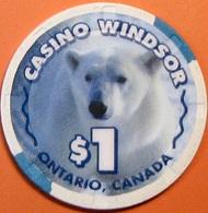 $1 Casino Chip. Casino Windsor, Ontario, Canada. S47. - Casino