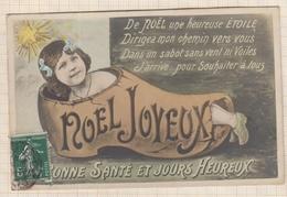 9AL2836 CARTE POSTALE JOYEUX NOEL Sabot Petite Fille 2 SCANS - Christmas