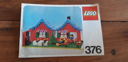 Istruzioni Lego 376 1978 Originale Epoca - Plans