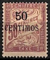 [827853]TB//*/Mh-c:36e-Maroc 1896 - TX4, 50c S. 50c Lilas, Taxe, Colonies - Nuevos