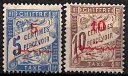 [827855]TB//*/Mh-c:23e-Maroc 1911 - TX10/11, 5c Bleu Et 10c Brun, Taxe, Colonies - Nuevos