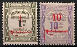 [827856]TB//*/Mh-c:13e-Maroc 1911 - TX13/14, 1c Olive Et 10c Violet, Taxe, Colonies - Nuevos