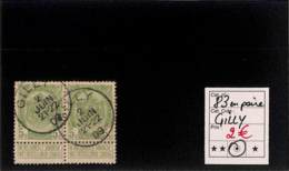 [820052]TB//O/Used-Belgique 1907 - N° 83, Gilly, En Paire, Armoiries - 1893-1907 Wapenschild