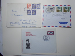 Marcophilie Lot 3 Enveloppes Lettres Oblitérations Timbres YOUGOSLAVIE  (2597) - 1945-1992 Repubblica Socialista Federale Di Jugoslavia