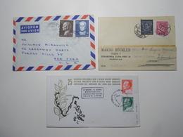 Marcophilie Lot 3 Enveloppes Lettres Oblitérations Timbres YOUGOSLAVIE  (2598) - 1945-1992 République Fédérative Populaire De Yougoslavie