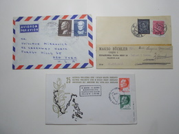 Marcophilie Lot 3 Enveloppes Lettres Oblitérations Timbres YOUGOSLAVIE  (2598) - Lettres & Documents