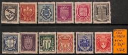 [820907]TB//*/Mh-c:24e-France 1941 - N° 526/37,  Armoiries - France