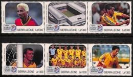 [813239]TB//**/Mnh-Sierra Leone 2000 - Euro 2000, 2 Triplettes, Sports, Football - Soccer