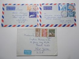 Marcophilie Lot 3 Enveloppes Lettres Oblitérations Timbres YOUGOSLAVIE  (2599) - 1945-1992 République Fédérative Populaire De Yougoslavie