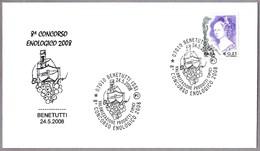 8º CONCURSO ENOLOGICO - 8th Wine Competition. Benetutti, Sassari, 2008 - Vinos Y Alcoholes