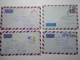 Marcophilie Lot 4 Enveloppes Lettres Oblitérations Timbres YOUGOSLAVIE  (2600) - 1945-1992 République Fédérative Populaire De Yougoslavie