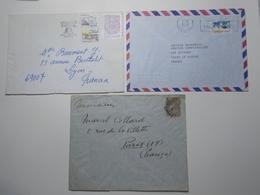 Marcophilie Lot 3 Enveloppes Lettres Oblitérations Timbres PORTUGAL (2601) - 1910-... République