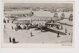 Vintage Pc KLM K.L.M Royal Dutch Airlines Lockheed Constellation L-049 @ Schiphol Amsterdam Airport Version A - 1919-1938: Entre Guerres