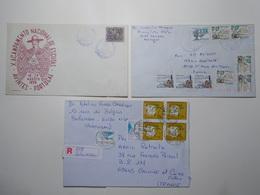 Marcophilie Lot 3 Enveloppes Lettres Oblitérations Timbres PORTUGAL (2602) - Lettres & Documents