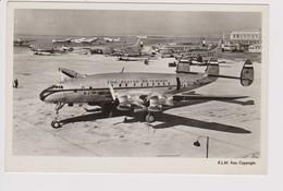 Vintage Pc KLM K.L.M Royal Dutch Airlines Lockheed Constellation L-049 @ Schiphol Amsterdam Airport Version B - 1919-1938: Entre Guerres