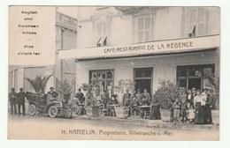 Rare CPA 1910s -  Villefranche-sur-Mer - Café-restaurant DE LA RÉGENCE - H. HAMELIN. Propriétaire - CPA Peu Courante ! - Villefranche-sur-Mer