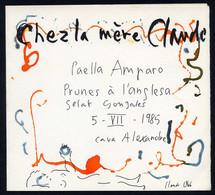 *Claude Collet Milloud* Ilustración Original. Menú Medidas 160x180 Mms. Año 1985. - Menú