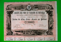 T-CU Societé Port Et Terrains De Matanzas 1887 - Navegación